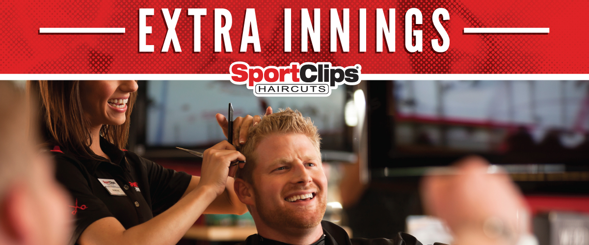 The Sport Clips Haircuts of Traverse City Extra Innings Offerings